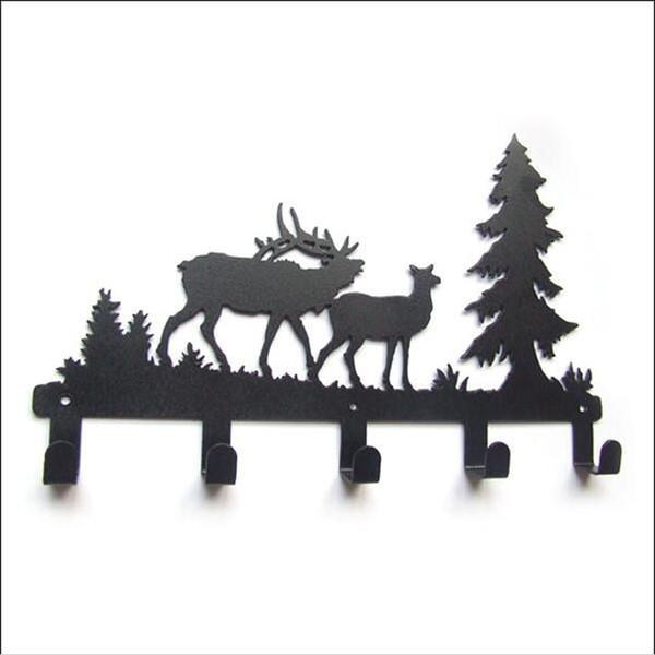 Creative Original Forest Reindeer Design Robe Hooks Coat/Hat/Bag Cartoon Wall Hanger Bathroom Hardware Home Improvement Decor Free Shipping