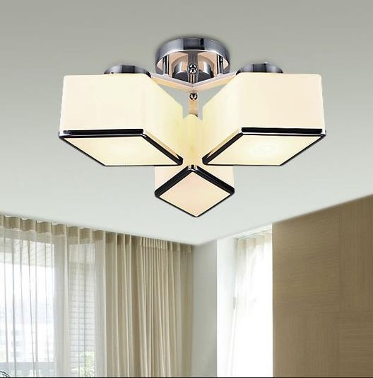 Ceiling lights Mirror stainless steel ceiling plate Milk white glass lampshade International E27 Screw mouth 3, 5, 7 available