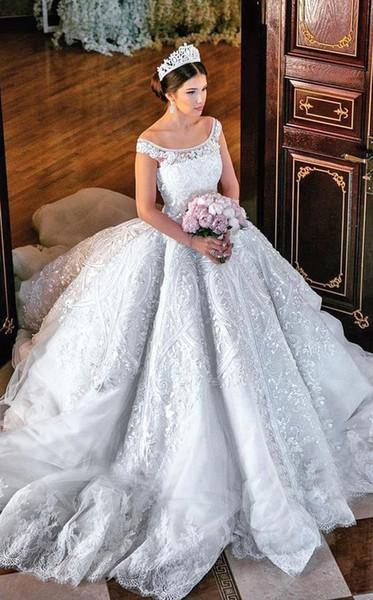 Großhandel Wunderschöne Prinzessin Ballkleid Brautkleid Sequins ...