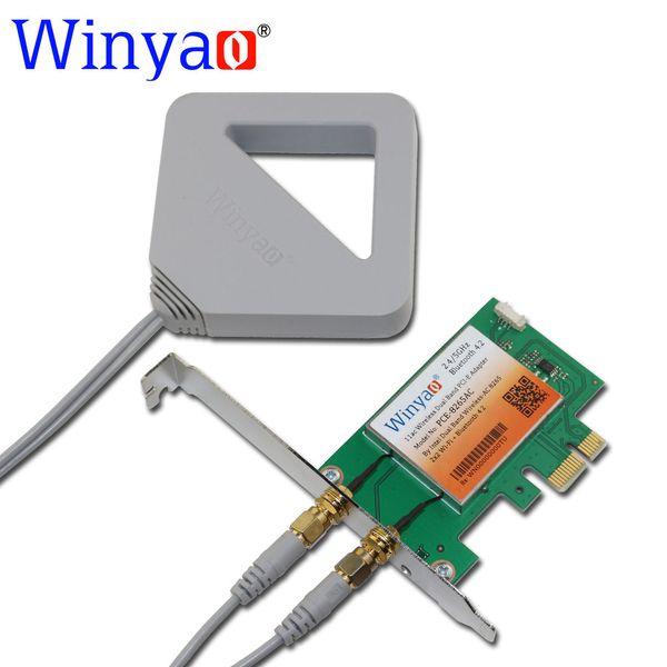 Wholesale- Winyao PCE-8265AC Dual Band Desktop PCI-E WiFi Card Adapter Wireless-AC 8265NGW 867M 802.11AC for Intel 8265 NGW Bluetooth 4.2