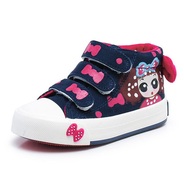 Girls Canvas Shoes Children Sneakers Spring Autumn Kids Sneakers Hand-decorated Bow Girls Lovely Princess Bow Sports Shoes Athletic Shoes