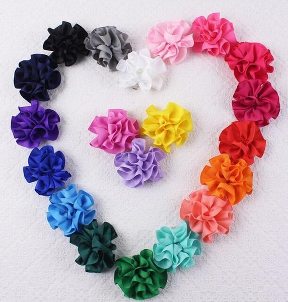 Romantic Flower Love Hair Clip Girl Barrettes Exquisite Handmade Making Easy Group Heart-shape with 20 Colors