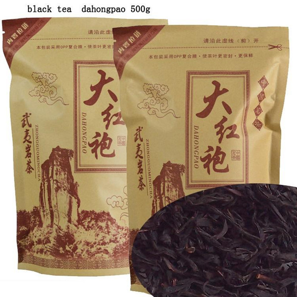 best selling 500G Top Grade 2019 clovershrub Da Hong Pao Red Robe dahongpao Oolong Tea the tea black antifatigue free shipping