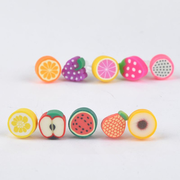 100 pcs Fruit Charm Phone Anti Dust Plug Cell Phone Accessories For Iphone SE 5 6 6S 3.5mm Earphone Jack Plug for samsung galaxy s6