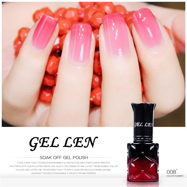 Wholesale-Gel Len 8ml Temperature Changing Nail Gel Polish New Brand Change Color Gel Varnish Led Gel Lacquer
