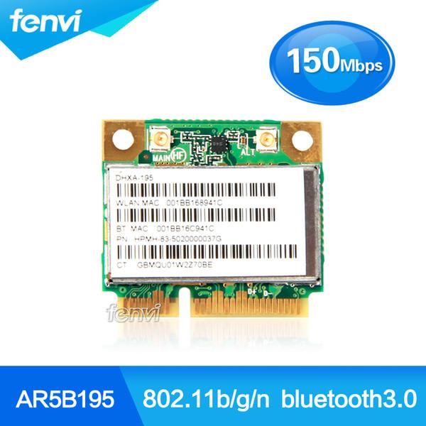 Venda por atacado - Atheros AR5B195 Sem Fio Wifi BlueTooth Adaptador de Rede WIFI + BT3.0 Combo Sem Fio Meio Mini PCI-e Cartão Wlan para Dell / Acer / Asus