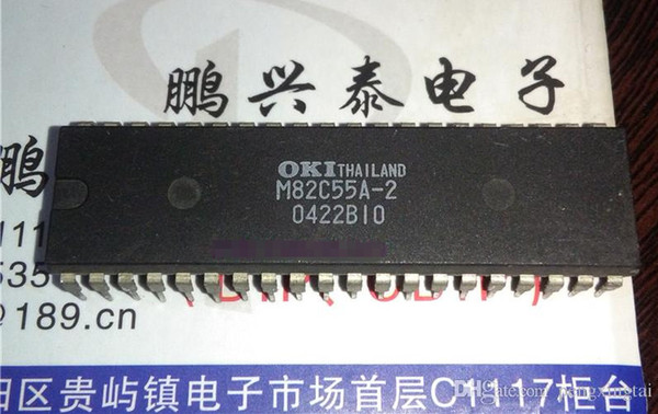 M82C55A-2 . MSM82C55A-2 , dual in-line 40 pin package Integrated Circuits ICs / Electronic Component . M82C55A , MSM82C55A / PDIP40 . Chips