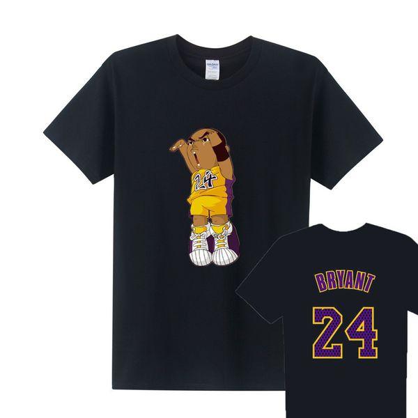 Kobe Bryant 24 Camisetas Nueva Moda Hombres Basketall Camiseta MenTops Manga Corta Algodón O-cuello Casual Kobe Camisetas Tee