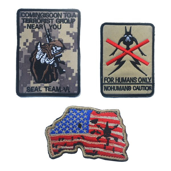 best selling 60 PCS Navy Devgru Seal Team 6 Skeleton USA MAP Morale Rubber Patch Army Tactical Swat Patch 3d Morale Badge Patches