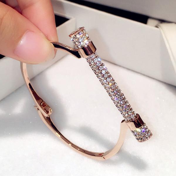 All'ingrosso-famoso design di lusso di cristallo a ferro di cavallo polsini bracciali strass Pulseira Feminina braccialetti braccio polsino bijou brassard