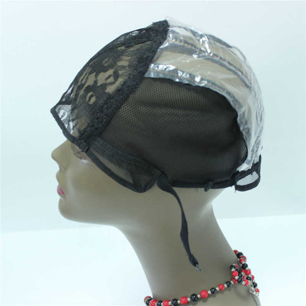 Fast Shipping 3PCS Top Quality top grade machine made Wig caps for making wigs stretch lace sew in for wigs