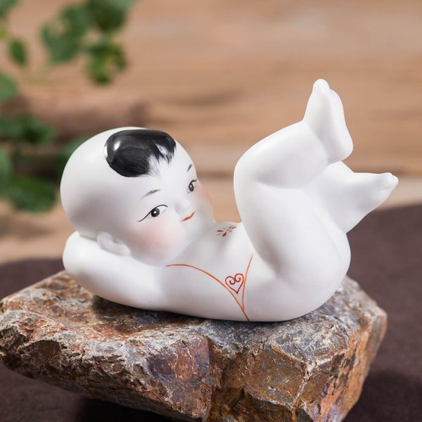 Presente de casamento Mobiliário doméstico Jintongyunv boneca de cerâmica amantes de artesanato menino virgem quatro pequenos sala de estar decoração