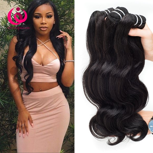 Cambodian Body Wave Hair Bundles 4pcs/lot Double Weft Cheap Wholesale Price Wow Queen Hair No Shedding No Tangle Cambodian Virgin Human Hair