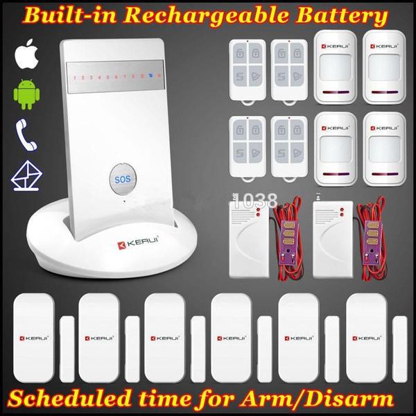 LS111- New Model KERUI IOS/Android APP remote 850/900/1800/1900mhz GSM SIM Wilress home Secure Burglar Voice Water leak Sensor Alarm