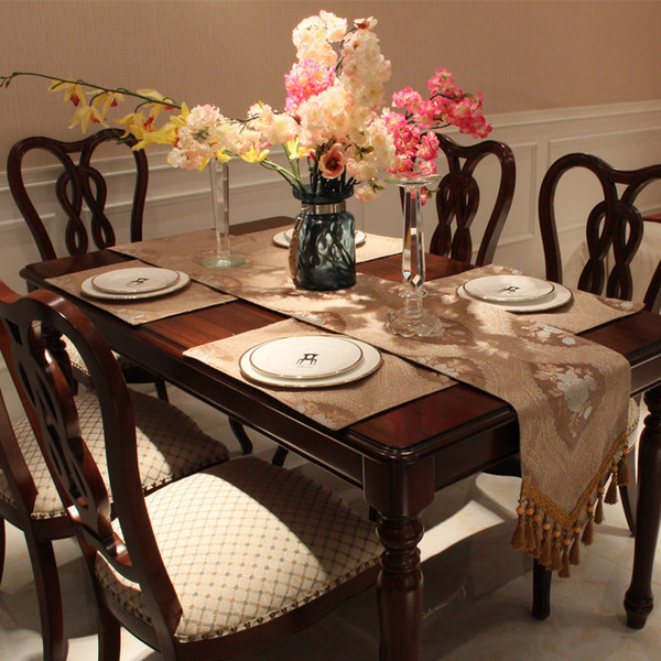 Top Quality Polyester Vintage Embroidered Floral Table Runner Custom - Custom dining room table runners