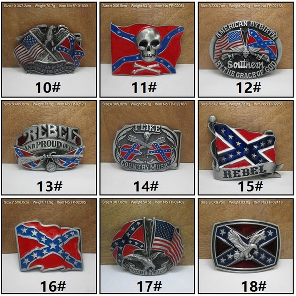 New Fashion belts Confederate Southern South Rebel Flags Civil Flag Belt Buckles Civil War Flag Belt Buckles Dixie Flag Buckles C009