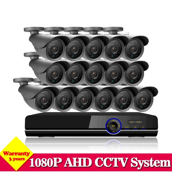 NINI CCTV System 16CH HDMI 1080P DVR Video CCTV System 16Pcs 2.0MP 3000TVL IR outdoor Security Camera Surveillance System