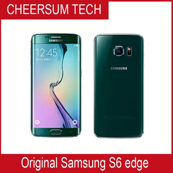 Оригинал Samsung Galaxy s6 край окт Ядро 3GB RAM 32GB ROM LTE 16MP 5,1 '' Разблокировать телефон