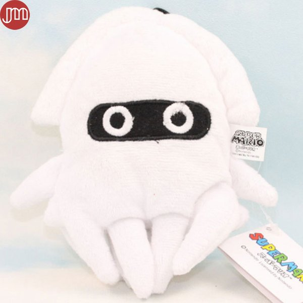 "New Super Mario Bros 6"" Blooper Squid Figure Soft Plush Toy Stuffed Animal Doll Hanging Mascot with Suction Button"