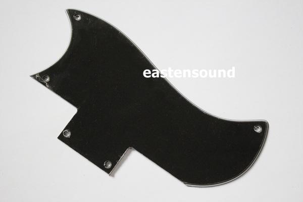 Pickguard 2 Pc En Noir 3 Plis SHORT Pour SG guitare