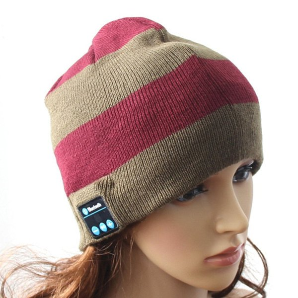 wireless bluetooth headphone beanie knitted hat handsfree headset with mic speaker for smart phones wireless earphone caps for fall winter