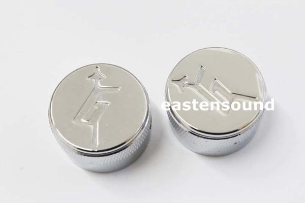 Free shipping A Set of 2 pcs chrome metal Control Knobs for Electric Guitar