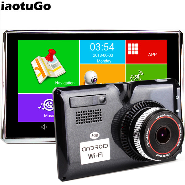 "iaotugo 5"" Capacitive Android GPS DVR Car Navigator Recorder Quad Core 512M 8G HD 1080P AVIN Bluetooth Wifi"