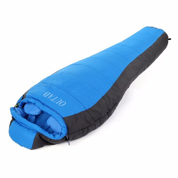 Wholesale- New-5 Winter Mummy Type Thermal Warm Adult Cotton Sleeping Bag for Outdoor Camping Adventure Family Home Warming Sleeping Bag