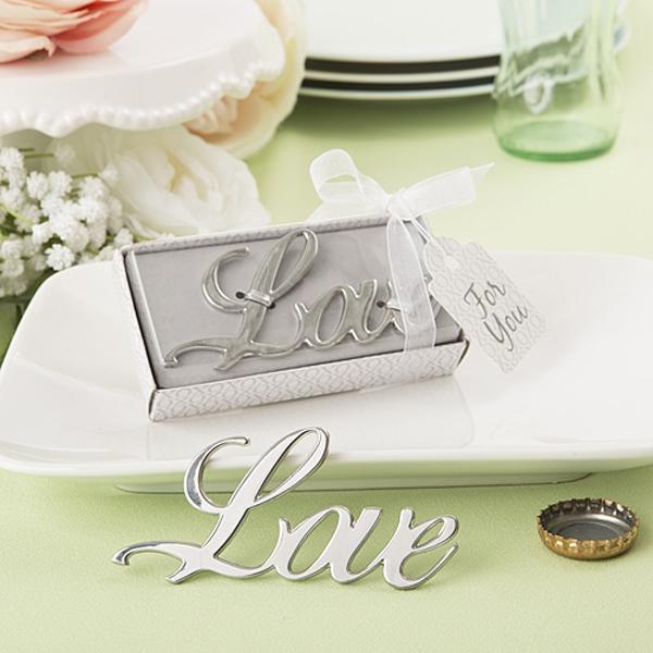 100 pcs / lot nouveau style amour bouteille ouvre-porte faveurs de mariage et cadeaux fournitures de mariage souvenirs cadeaux de mariage pour les invités # 001