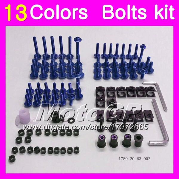 Fairing bolts full screw kit For HONDA CBR600F4 99 00 99-00 CBR600 F4 CBR 600 F4 CBR 600F4 1999 2000 Body Nuts screws nut bolt kit 13Colors
