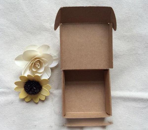 Takı DIY Sabun Pişirme Ekmek Pastalar Kurabiyeler Çikolata Paketi Ambalaj Kutusu için Çevre Dostu Kraft Kağıt Hediye Paketleme Kutusu