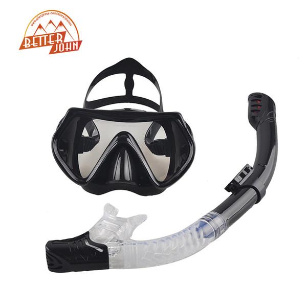 Wholesale-2016 neue professionelle Tauchen Maske Schnorchel Anti-Fog Brille Gläser Set Silikon Schwimmen Angeln Pool Ausrüstung 6 Farbe