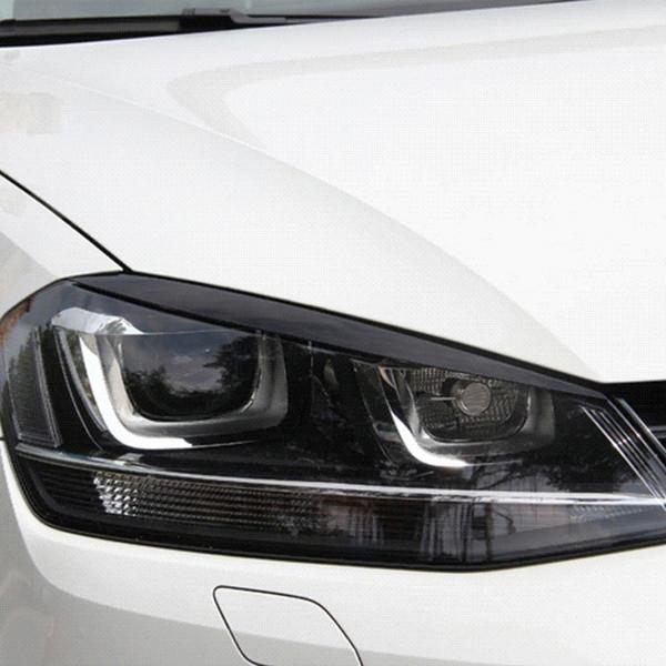 2 teile / los Scheinwerfer Augenbrauen Augenlider ABS Chrome Trim Abdeckung für Volkswagen VW Golf 7 MK7 GTI Auto Styling