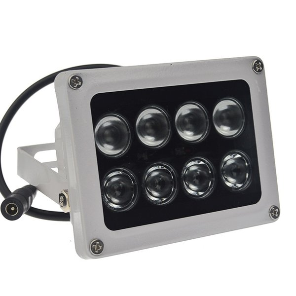 1pcs 12V 60m 8 array led infrared light night vision IR illuminator Outdoor Waterproof for CCTV Camera