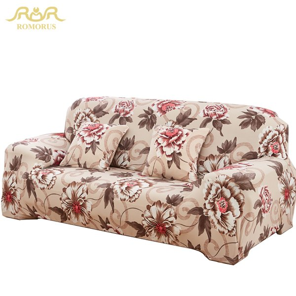Outstanding Romorus Hot Floral Sofa Covers One Two Three Four Seat Full Elastic Slip Resistant Slipcover Sectional Couch Cover Wicker Replacement Cushions Patio Pabps2019 Chair Design Images Pabps2019Com