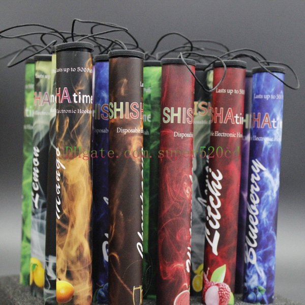 New E ShiSha Hookah Pipe Pen Disposable Electronic Cigarette Fruit Juice E Cig Stick Shisha Time 500 Puffs free shipping