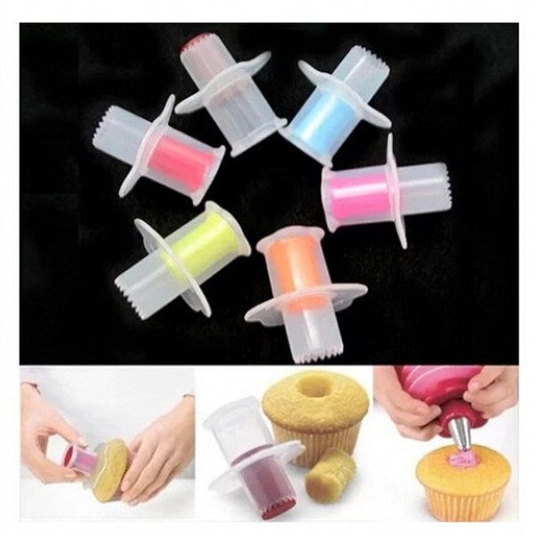 Cake Digging Machine Cupcake Corer Plunger Cutter Pastry Opener Core Remove DIY Creative Mold Baking Decorating Divider 1 2sk F