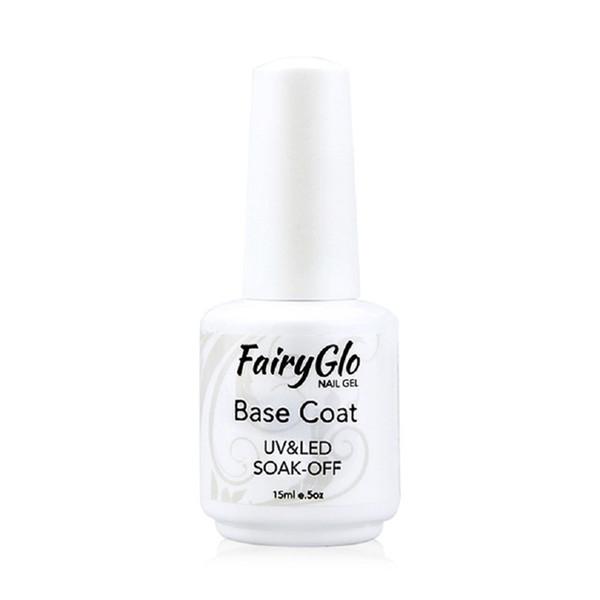 Wholesale-FairyGlo 15ml Base Gel Coat UV Base Coat Foundation for UV Nail Art Gel Tips Set Primer Base Gel Coating