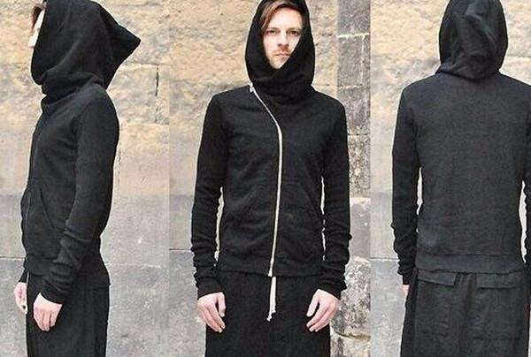Toptan-Sonbahar ve kış owens eğik fermuar hoodie düz renk kazak giyim severler tasarım