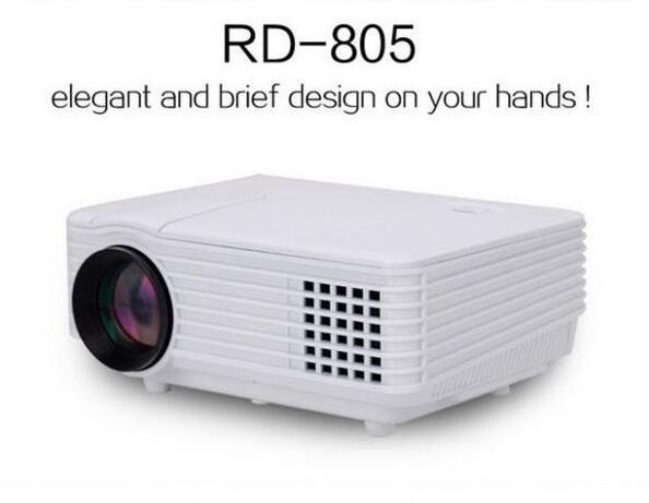 RD805 800 Lumens Projector Mini LED Portable Beamer Cinema Proyector VGA/AV/USB/HDM/ATV Home Theater Projector DHL free