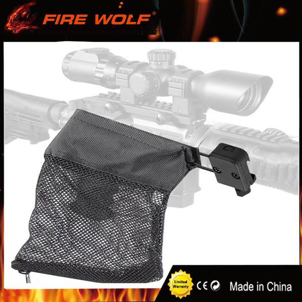 top popular FIRE WOLF AR-15 Ammo Brass Shell Catcher Mesh Trap Zippered Closure for 20mm Rail Nylon Mesh Black 2020