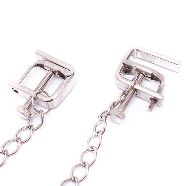 BDSM Nipple Clamps Tit Clips Teaser Torture Bondage Gear Adult Games Sex Toys Products for Women Stainless Steel Chained