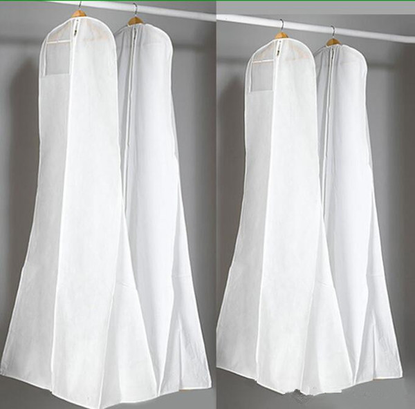 best selling Big 180cm Wedding Dress Gown Bags High Quality White Dust Bag Long Garment Cover Travel Storage Dust Covers Hot Sale