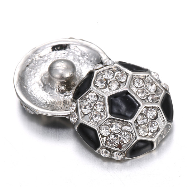 12 pcs2017 hit 18 mm snap button charm football fashion jewelry, necklace, bracelet as the best gift