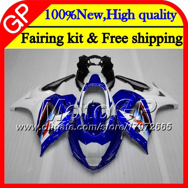 Body For SUZUKI KATANA GSXF 650 650F Blue white GSX650F 08 09 10 11 12 13 32GP6 GSXF650 13 2008 2009 2010 2011 2012 2013 Motorcycle Fairing
