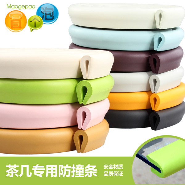 Wholesale- Child Safety Products 2m Baby bumper strip Baby Safety Corner protector Table Edge Corner Cushion Strip with 3M Sticker u type