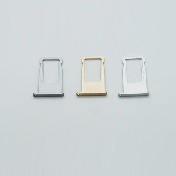 Yeni Varış Yüksek Kaliteli SIM Kart Tepsi iPhone 6 S 4 renkler için mevcut Gerçek Fotoğraflar