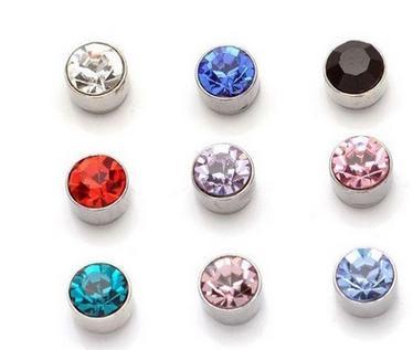 top popular 24 pairs 5 mm Rhinestone Crystal Magnet Magnetic Earrings Magic Unisex Fake Cheater Ear Plugs 2019