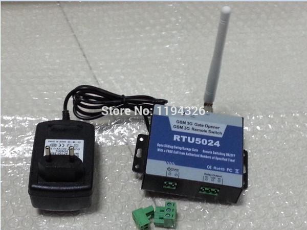 Großhandels-RTU5024 GSM Slide / Swing Tor-Bediener-Relais-Schalter-Fernzugriffskontrolle ohne freien Anruf 9 ~ 24V DC