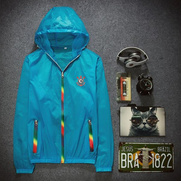 Corinthians Paulista hoodies Sunshine block skinsuits Football exercise Sun proof clothing coat Outdoor sport jacket Unisex sweatshirts